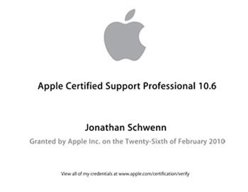 Jon Schwenn is an Apple Certified Support Professional