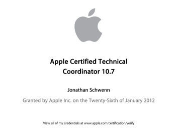 Apple Certified Technical Coordinator 10.7
