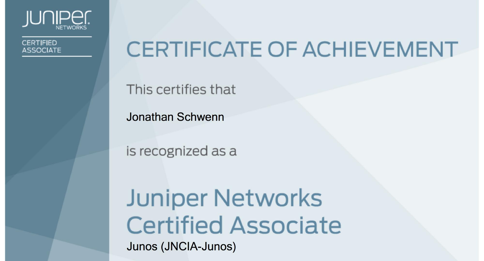 Juniper JNCIA